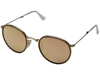 Ray Ban Rb3517 Folding 51Mm Gold Brown Mirror Pink Fashion Sunglasses