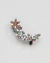 Asos Limited Edition Mega Flower Ear Cuff Multi