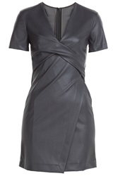 Cedric Charlier Faux Leather Dress Black