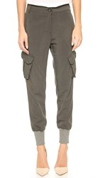 James Jeans Utility Boyfriend Cargo Pants Military Green