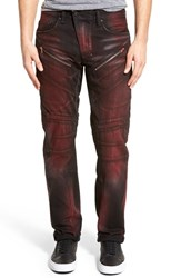 Men's Prps 'Barracuda' Straight Leg Moto Jeans Red Panda
