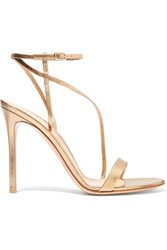 Gianvito Rossi Metallic Leather Sandals Gold