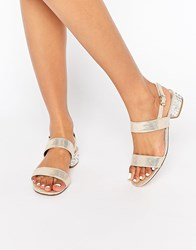 Dune Ninah Gold Mid Jewel Heel Sandals Gold