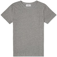 Officine Generale Jersey Pocket Tee Mid Grey Heather