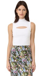 Cushnie Et Ochs Mock Neck Crop Top White