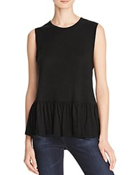 Aqua X Maddie And Tae Knit Flounce Tank 100 Bloomingdale's Exclusive Black
