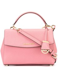 Michael Michael Kors Small 'Ava' Satchel Pink And Purple