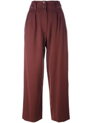 Alaia Vintage High Waisted Tailored Trousers Brown