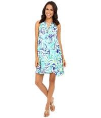 Lilly Pulitzer Achelle Dress Pool Blue Stay Cool Women's Dress
