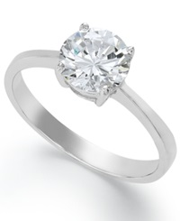 B. Brilliant Sterling Silver Ring Cubic Zirconia Sparkle Ring 1 1 4 Ct. T.W.