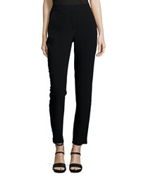 Sachin And Babi Noir Tuxedo Beaded Slim Crop Pants Women's