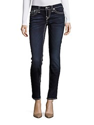 True Religion Ankle Length Skinny Fit Jeans Blue Veil