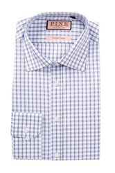 Thomas Pink Bell Long Sleeve Classic Fit Check Dress Shirt White