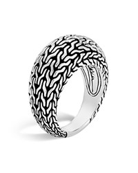 John Hardy Sterling Silver Classic Chain Dome Ring