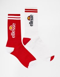 Ellesse 2 Pack Socks Multi