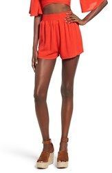 Missguided Women's Smocked Waist Crepe Shorts