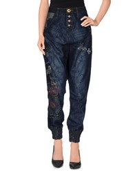 Desigual Denim Denim Trousers Women Blue