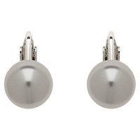 Finesse 10Mm Pearl Clip Earrings Grey