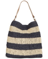 Straw Studios Stripe Hobo Navy Stripe