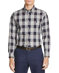 Brooks Brothers Brushed Oxford Classic Fit Button Down Shirt Grey Heather Navy