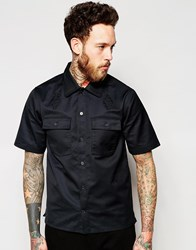 Wood Wood Safari Shirt With Short Sleeves Black