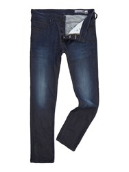 Duck And Cover Men's Tinnu Slim Mens Jeans Blue