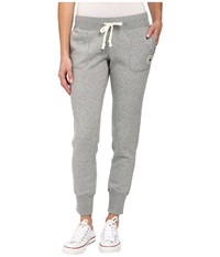 Converse Global Fit Core Signature Fleece Pants Grey Heather Women's Casual Pants Gray