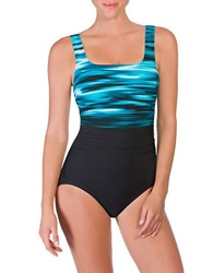 Reebok Skyview One Piece Swimsuit Jade Green