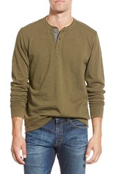 Men's Jeremiah 'Finn' Long Sleeve Slub Henley Tank