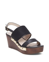 Louise Et Cie Quincy Leather Platform Wedges Black