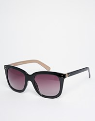 Warehouse D Frame Sunglasses Black