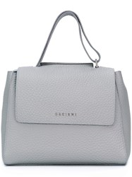 Orciani Pebbled Tote Grey