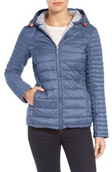 Barbour Women's Landry Hooded Quilted Jacket Washed Charcoal