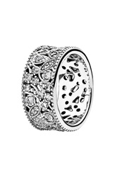 Pandora Design 'Shimmering Leaves' Ring Silver Clear