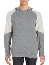 Slate And Stone Two Tone Wool Hoodie Grey