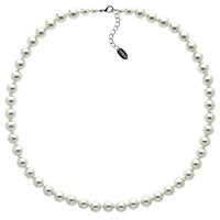 Finesse Glass Faux Pearl Necklace Nacre