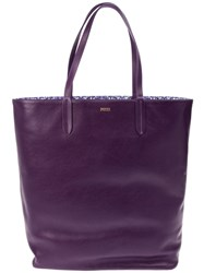 Emilio Pucci Open Top Tote Pink And Purple