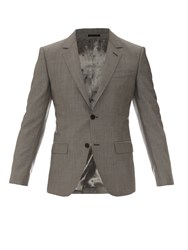 Alexander Mcqueen Single Breasted Wool Blend Blazer