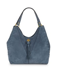 Nanette Lepore Santana Leather Tote Denim