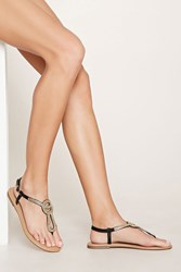 Forever 21 Beaded Faux Leather Sandals