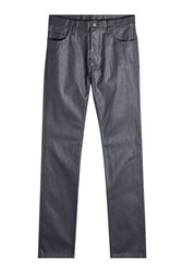 Calvin Klein Collection Coated Jeans Blue