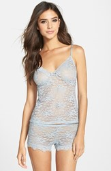 Women's In Bloom By Jonquil Stretch Lace Camisole And Shorts Cool Gray