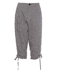 Yohji Yamamoto Regulation Gingham Print Seersucker Trousers