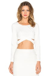 Lumier Surreal Silence Wrap Crop Top White