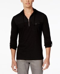 Inc International Concepts Men's Travel Long Sleeve Hoodie Shirt Only At Macy's Deep Black