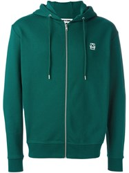 Mcq By Alexander Mcqueen Half Circle Clean Zip Hoodie Green
