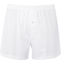 Hanro Mercerised Cotton Boxer Shorts White