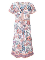 East Tropical Print Dress Multi