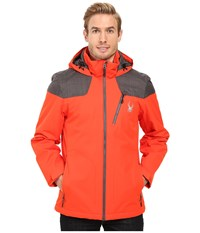 Spyder Vyrse Jacket Rage Polar Crosshatch Polar Men's Jacket Orange