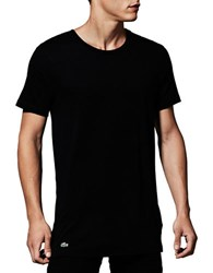 Lacoste 3 Pack Essentials Crew Neck Tee Black Grey White 3 Pack